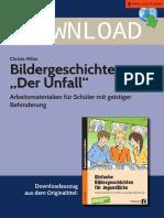 DOWNLOAD. Bildergeschichte Der Unfall. Arbeitsmaterialien für Schüler mit geistiger Behinderung. Downloadauszug aus dem Originaltitel_