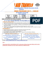 UMRAH PACKAGES 2011 (AGENT)