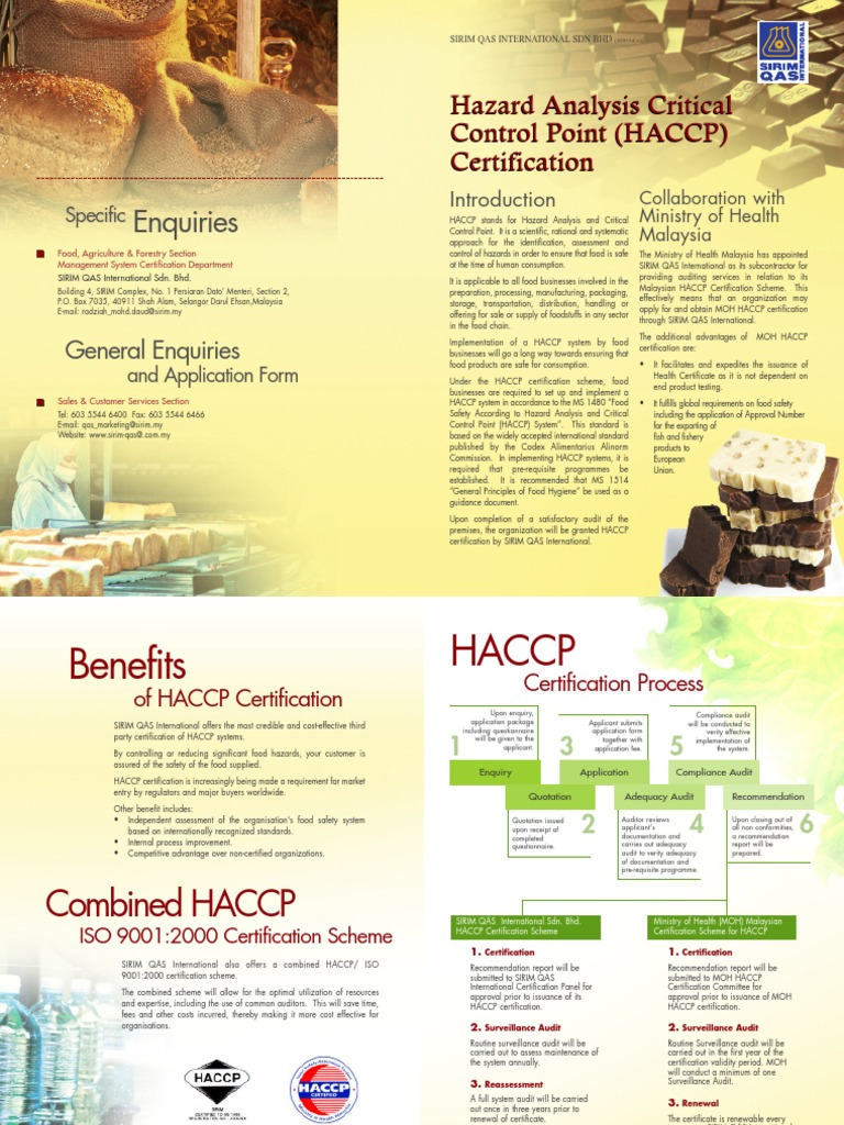 Haccp Hazard Analysis And Critical Control Points Food Safety