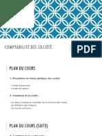 ESCA - M1- Comptabilité Des Société S1 2020