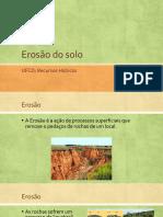 Erosão do solo