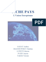 Mondialisation et géopolitique - fiche caractéristique de l'europe