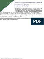 Ballistic protection efficiency of composite ceramics
