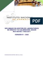 PG Y FECHAS - DIPLOMADO EN GESTION DE LABORATORIOS - VERSION IV (marzo-mayo 2020)