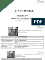 Interpretasi Radiograf Abses Dini