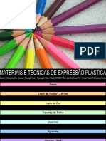 Apresentação sobre Materiais e Técnicas de Expressão Plástica