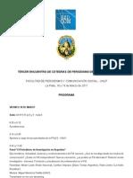 Programa completo del tercer encuentro de cátedras - UNLP