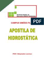 Apostila - Hidrostatica parte 1