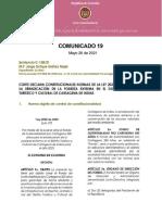 Facsímiles de Comunicado Sobre la Sentencia C-158/21