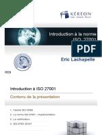 Introduction à la norme ISO 27001