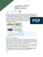 Consulta a servicios WFS mediante PHP y AJAX