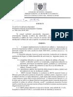 Ordin Nr. 406 Din 01.06.2021 Cu Privire La Aplicarea Dispozitiei Primarului General Al Municipiului Chisinau Nr. 268 d Din 28.05.2021