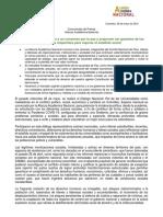 Comunicado Diálogo Presente y Futuro de La SP 28,05,21