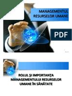 3. Managementul Resurselor Umane