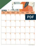 1. Calendario mensual
