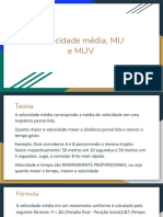 Velocidade média, MRU e MRUV
