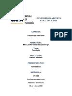 Examen de Terapia Condutual Portafolio Renata