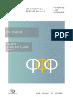 Guide des études Philosophie_Master_2016 2017 Final