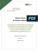 Informe Técnico de Práctica Profesional - Junio 2021 - Iacc Tecnico en Prevencion de Riesgos