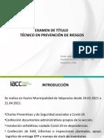 Presentacion Examen Tecnico en Prevencion de Riesgos - InFORME PRACTICA - IACC