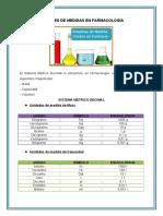 Unidades de medida en farmacologìa