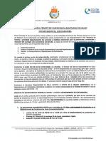 Determinaciones del COED de Cochabamba (2 de junio de 2021)