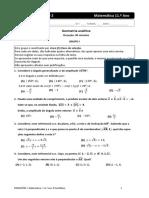 Ficha de Avaliacao Dominio 02 - 11 Ano - Geometria Analitica (Enunciado)