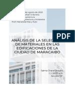 Edificaciones de Maracaibo y Sus Materiales