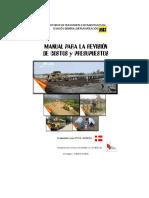 Manual Para Revisión de Costos y Presupuestos de Obras Viales