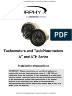 Tacometro Horometro Señal Analoga Alternador Atha 40 Murphy Manual Ingles