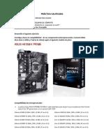 PRACTICA CALIFICADA_La Placa base y Compatibilidad de los componentes de una PC