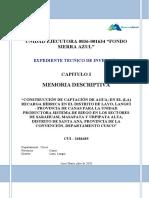 Memoria Descriptiva y Situacion Actual_Cus1-2020