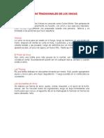 COMIDAS TRADICIONALES DE LOS 4 PUEBLOS