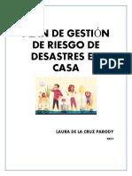 PLAN DE GESTIÓN DE DESASTRES EN CASA
