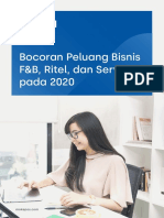 Bocoran Peluang Bisnis F&B, Ritel, Dan Servis 2020