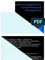 Personnel Management To Human Resource Management