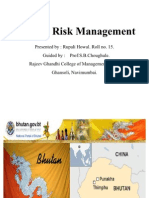 Country Risk Management BHUTAN