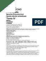 manual de derecho procesal, derecho procesal civil, tomo iv