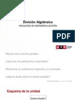 División algebraica (Horner)