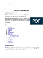 Bicycle and motorcycle geometry,trail