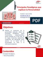 Semana 2 y 3 - Principales Paradigmas que explican la Personalidad