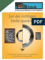 Effizienzfabrik - Ressourceneffizienz in der Produktion