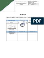 VIL-PO-S-01 Politica de Seguridad, Salud, Medio Amb. y Calidad 2021