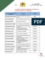 Liste Des Pharmacies Dofficine Non Conventionn Es Au 17-07-16 (1)