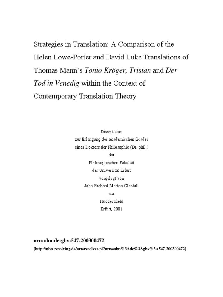 Strategies in Translation (диссертация) | Translations | Analogy