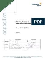 ES.00034.GN-DG Válv Esféricas