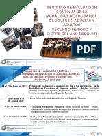 Registro de Evaluación Continua de la Modalidad de Educación de Jóvenes, Adultas y Adultos Segundo Período 2020-2021
