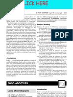 FOOD ADDITIVES - Liquid Chromatography(1)