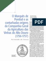 O Marquês de Pombal e as conturbadas origens da Companhia Geral da Agricultura das Vinhas do Alto Douro