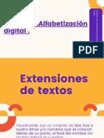 ¿Cuáles son los tipos de extensión de archivos de texto que existen 12